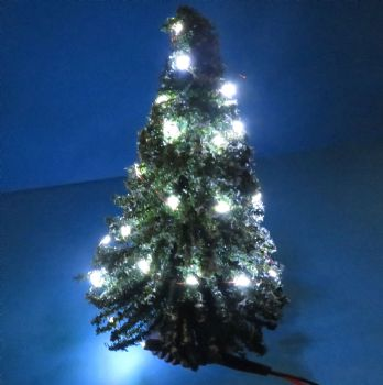 Christmas Tree with White LED Lights